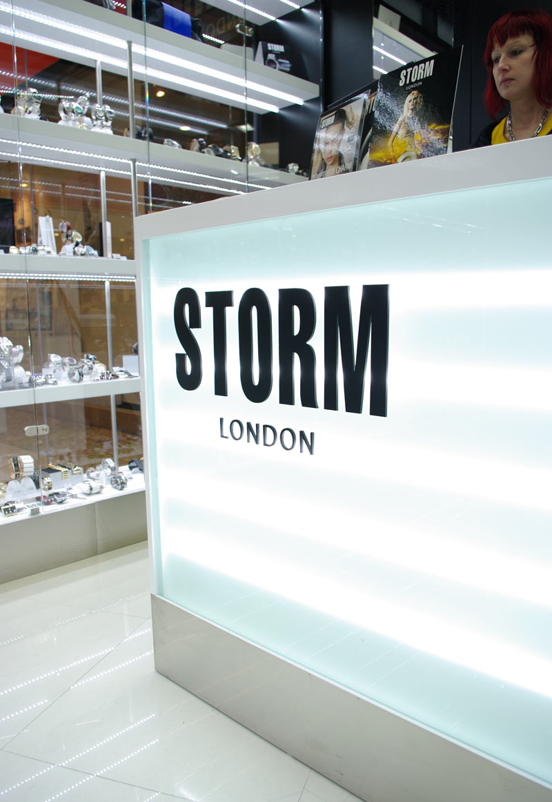 PRODEJNA STORM LONDON   Návrh a realizace interiéru prodejny hodinek a  šperků v obchodním centru Chodov v Praze  91a460722a