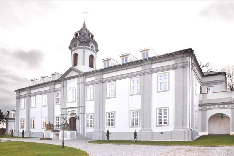 panství hotel fasáda zámku