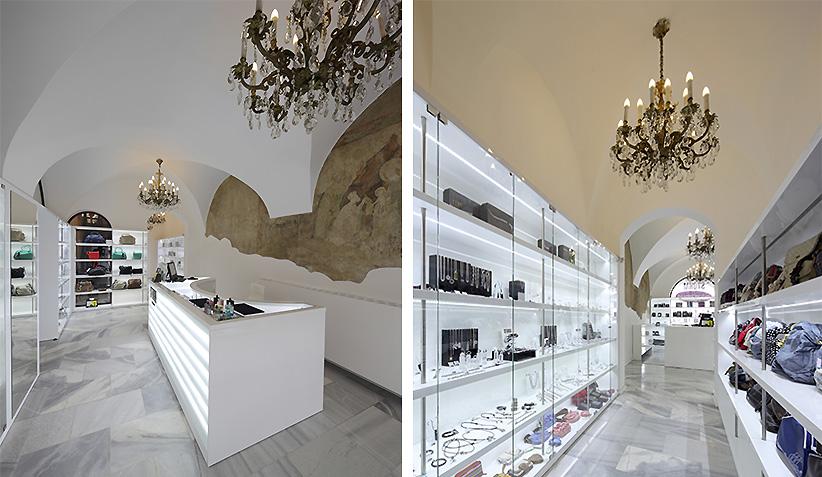 architekti prodejny hodinek a sperku
